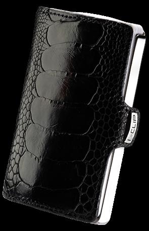 i-clip heritage titanium polished ostrich shine black